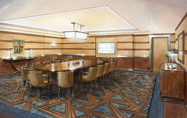 Perspective Watercolour Meeting Room John Walsom